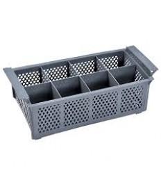 Krepšelis įrankiams plauti (8 vietų) 42,5x20,5x15 cm, polipropileno, pilkos sp.