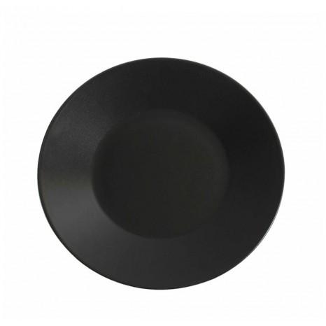 Apvali juoda matinė lėkštė