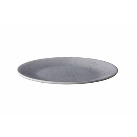 Apvali lėkštė Q Authentic TINTO Ø28 cm, pilka matinė