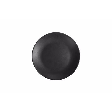 Apvali lėkštė Porland Seasons Graphite ø18cm, juoda