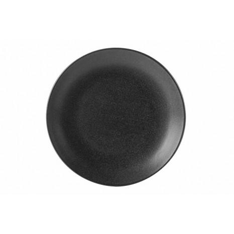 Apvali lėkštė GRAPHITE Ø24 cm, juoda