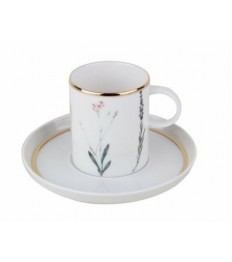 Puodelių ir lėkštučių rinkinys Botanical 12 vnt. (6 puodeliai ir 6 lėkštutės)