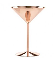 Martini taurė kokteiliams Copper Žalvarinė, 240ml, Ø12x16,6cm