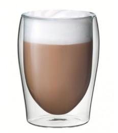 Latte puodelis Flame, dvigubomis sienelėmis 300 ml, ø8,6,  h-11,5cm