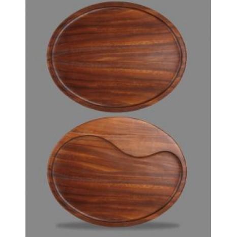 Apvalus medinis padėklas Churchill 29.5x23.3cm