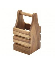 Medinė dėžutė įrankiam 10 x10  ruda