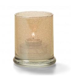 Žvakidė cilindrinė stiklinė (aukso sp., su