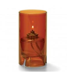 Žvakidė cilindrinė stiklinė (didelė, skaidri muskatinė) [h-14 cm, Ø 7,6 cm; HD36/42]