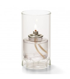 Žvakidė cilindrinė stiklinė (maža, skaidri) [h-11,1 cm, Ø 6 cm; HD26]