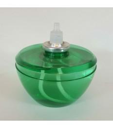 Papildymas žvakei Moonlight mini (dega 60h) H-9cm, žalia sp., (žvakidei 9827)