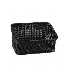 Krepšelis 32x25x18 cm, juodas, polipropileno