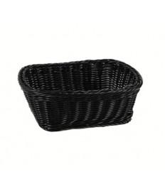 Krepšelis duonai 23x18x8cm, juodas, polipropileno