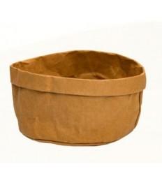 Krepšelis duonai 18x18x5cm, rudas, plaunamas