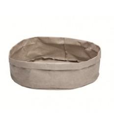 Krepšelis duonai 33x33x12cm, pilkas, plaunamas