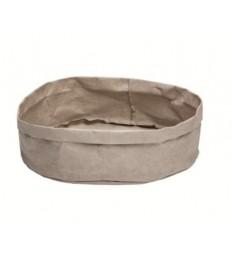 Krepšelis duonai 27x27x12cm, pilkas, plaunamas