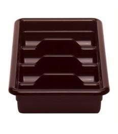 Dėžė stalo įrankiams CAMBRO (t.ruda; 4 dalių) (28.9 x 52 x 9.5 cm)