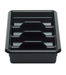 Dėžė stalo įrankių surinkimui CAMBRO (juoda; 4 dalių) (28.9 x 52 x 9.5 cm)