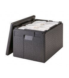 EPP  transportavimo dėžė GoBox (juoda) [61x43x39cm], skirta vienkartiniams indams laikyti