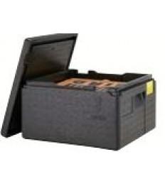 EPP dėžė picai PizzaBox juoda, 17,5cm, su juoda rankena
