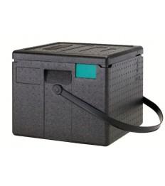 EPP dėžė picai PizzaBox juoda, 26,5 cm,  su juoda rankena