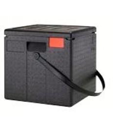 EPP dėžė picai PizzaBox juoda, 33cm, su juoda rankena