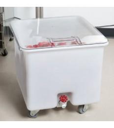 Produktų vežimėlis CAMBRO su kraneliu apačioj (baltas) [56x61x58.5cm; 121l]