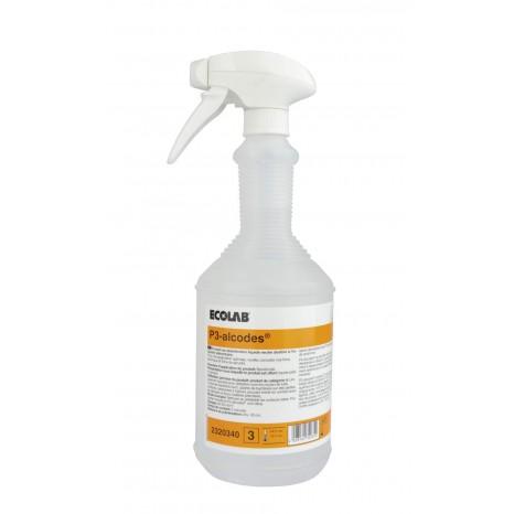 Alkoholinis dezinfekantas P3-ALCODES paviršių dezinfekcijai 1L, maisto pramonei