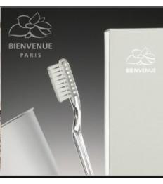 Dantų valymo rinkinys BIENVENUE PARIS (dantų šepetėlis ir dantų pasta 5g)