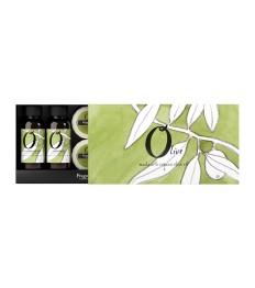 Dovanų dėžutė FRAGONARD Olive (šampūnas, dušo želė, kondicionierius, kūno losjonas, muiliukai)