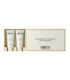 Kelioninis odos priežiūros rinkinys CO.BIGELOW Lavender&Peppermint dėžutėje (lūpų balzamas, rankų kremas, dieninis ir naktinis kremai) 4x8 ml