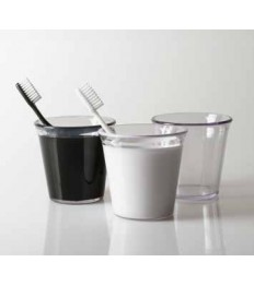 Vonios kambario stiklinė, akrilinė juoda balta skaidri