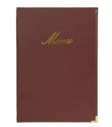 SECURIT meniu segtuvas Classic A4, 34x24x1 cm, raudono vyno sp.
