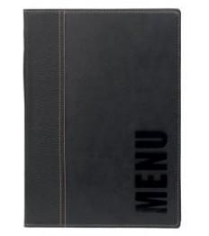 SECURIT meniu segtuvas Trendy A5, 25x18x1 cm, juodos sp.