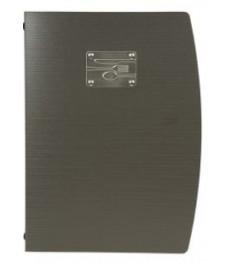 SECURIT meniu segtuvas Rio A4, 34x25x1,5 cm, juodos sp. su peilio, šakutės, šaukšto atvaizdu