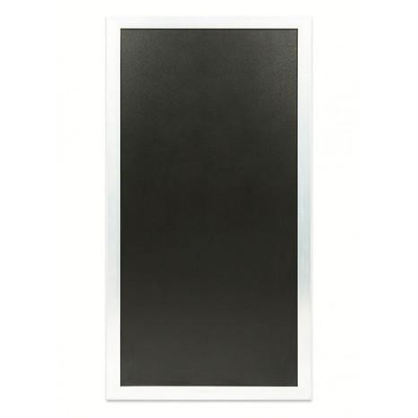 SECURIT jungiamasis stendas (grindinio) 119x67x3cm, kreidinė lenta baltu rėmeliu