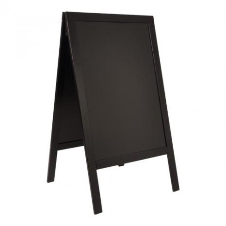 SECURIT informacinis kreidinis stovas Sandwich (grindinio) 125x71.5x7cm, medinis rėmas juodos sp.