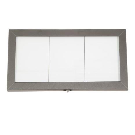 SECURIT informacinis LED stendas 3xA4, 40x72x5 cm, dengto plieno, pastatomas ar kabinamas