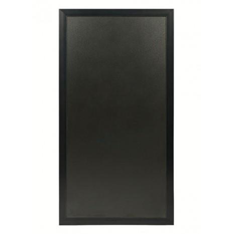 SECURIT jungiamasis stendas (grindinio) 119x67x3cm, kreidinė lenta su juodu rėmu