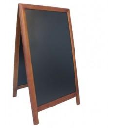 SECURIT medinis dvigubas stendas Deluxe 130x71,5x7,5 cm, juodas rudu rėmu