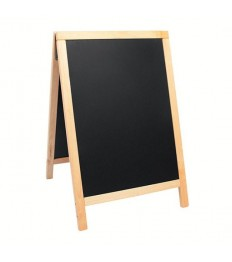 SECURIT medinis dvigubas stendas Deluxe 89x57,5x6,5cm, juodas smėlio spalvos rėmu