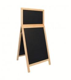 SECURIT medinis dvigubas stendas Deluxe 87x56,5x6,5 cm, juodas smėlio spalvos rėmu
