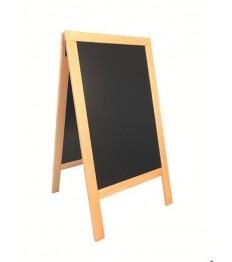 SECURIT medinis dvigubas stendas Deluxe 143x74,5x7 cm, juodas smėlio spalvos rėmu