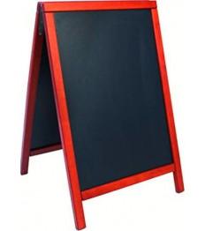 SECURIT medinis dvigubas stendas Deluxe 89x57,5x6,5cm, juodas raudonmedžio spalvos rėmu