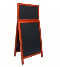 SECURIT medinis dvigubas stendas Deluxe 87x56,5x6,5 cm, raudonmedžio spalvos rėmu