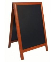 SECURIT medinis dvigubas stendas Deluxe 89x58x7cm, tamsiai rudos spalvos rėmu