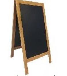 SECURIT medinis dvigubas stendas Deluxe 130x73x7,5 cm, juodas rudu rėmu