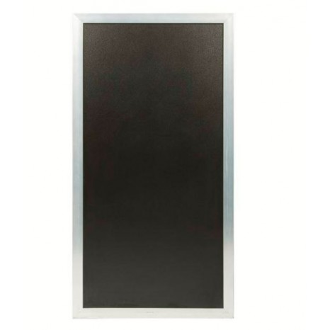 SECURIT jungiamasis stendas (grindinio) 119x67x3cm, kreidinė lenta su sidabriniu rėmu