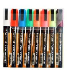 Žymeklis įv. spalvų SECURIT (2-6mm) 8vnt. rinkinys