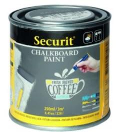 SECURIT pilki kreidiniai dažai 250 ml (5 kv.m.), stiklui, metalui, keramikai, plastikui ir medienai