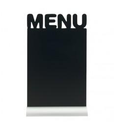 SECURIT stalo kreidinė lentelė siluetas MENU 34x21x6 cm, su aliuminio pagrindu ir žymekliu